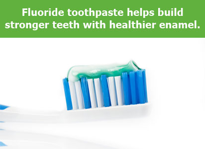 Fluoride helps enamel