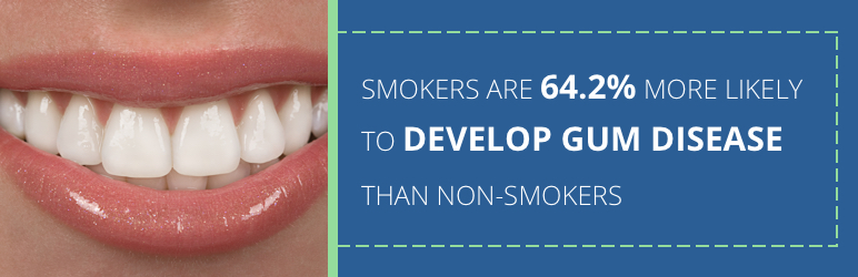 gum disease due to smoking