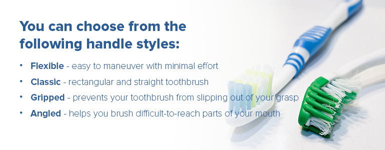 Tooth brush handle styles